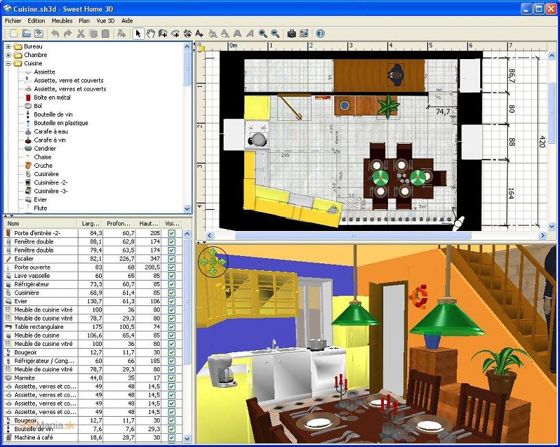 sweet home 3d ke sta en zdarma download. Black Bedroom Furniture Sets. Home Design Ideas