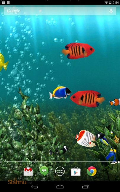 Aquarium free live wallpaper mobiln ke sta en zdarma for Bajar fondos de pantalla con movimiento gratis para android